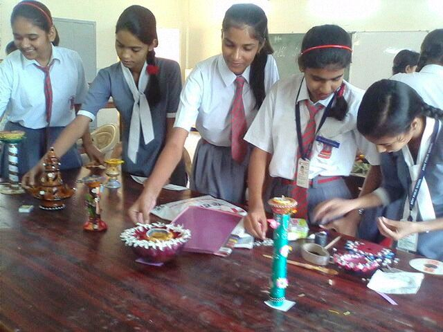 INTER HOUSE DIYA WITH STAND DECORATION COMPETITION